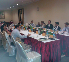 Our FMI Centre valuation team led by Eric Mah in the meeting with World Bank International Financial Corporation and Asian Development Bank officials on 14 August 2013