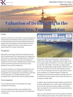 Valuation of Drilling Rig in the Caspian Sea, Turkmenistan